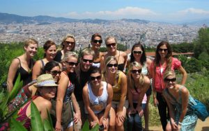 group of nursing student abroad