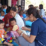"""Students HEAL"" members provided home health care exams in Thailand."