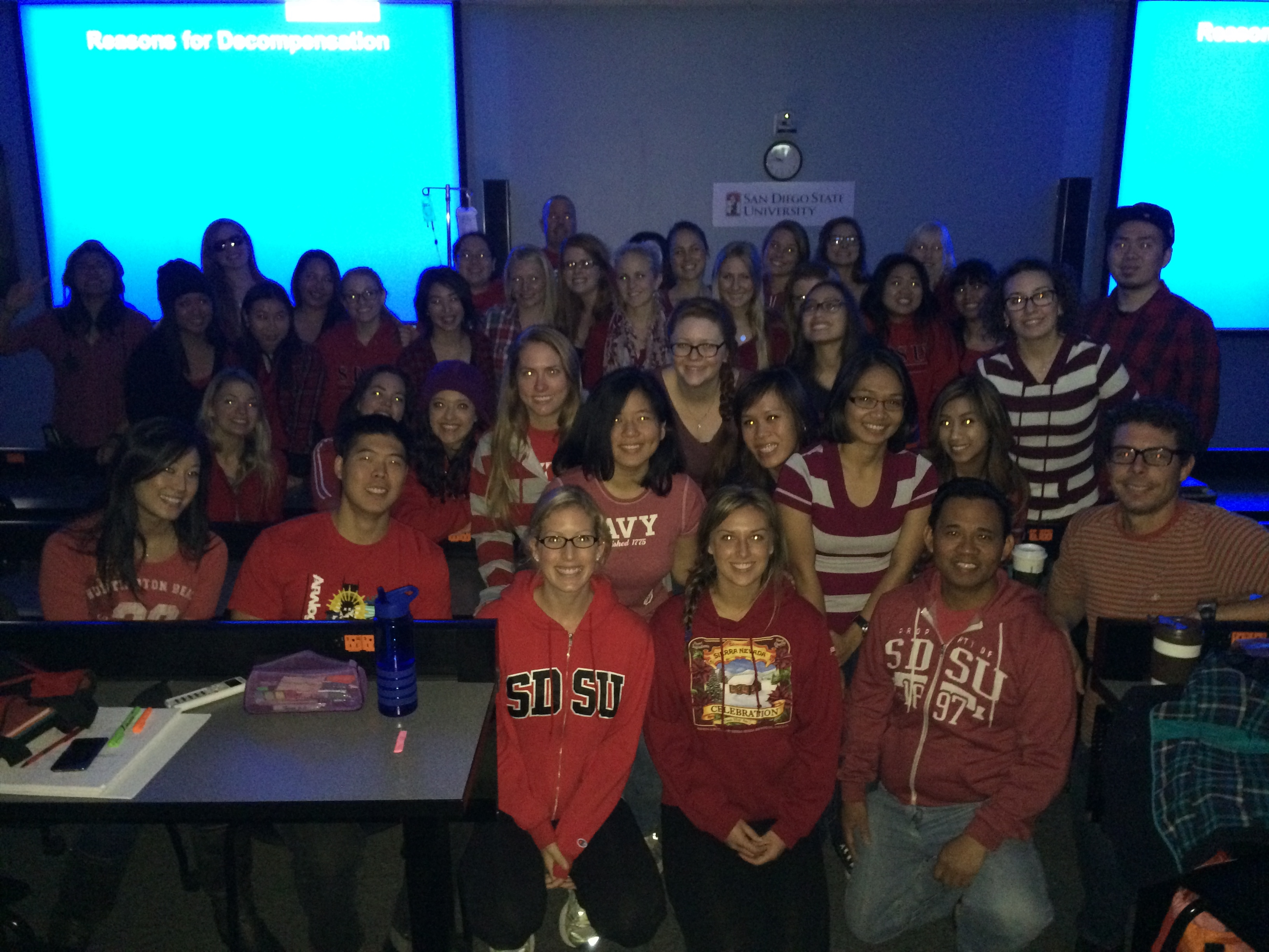 Students Wear Red for National Wear Red Day, designed to bring awareness to the Go Red for Women campaign!