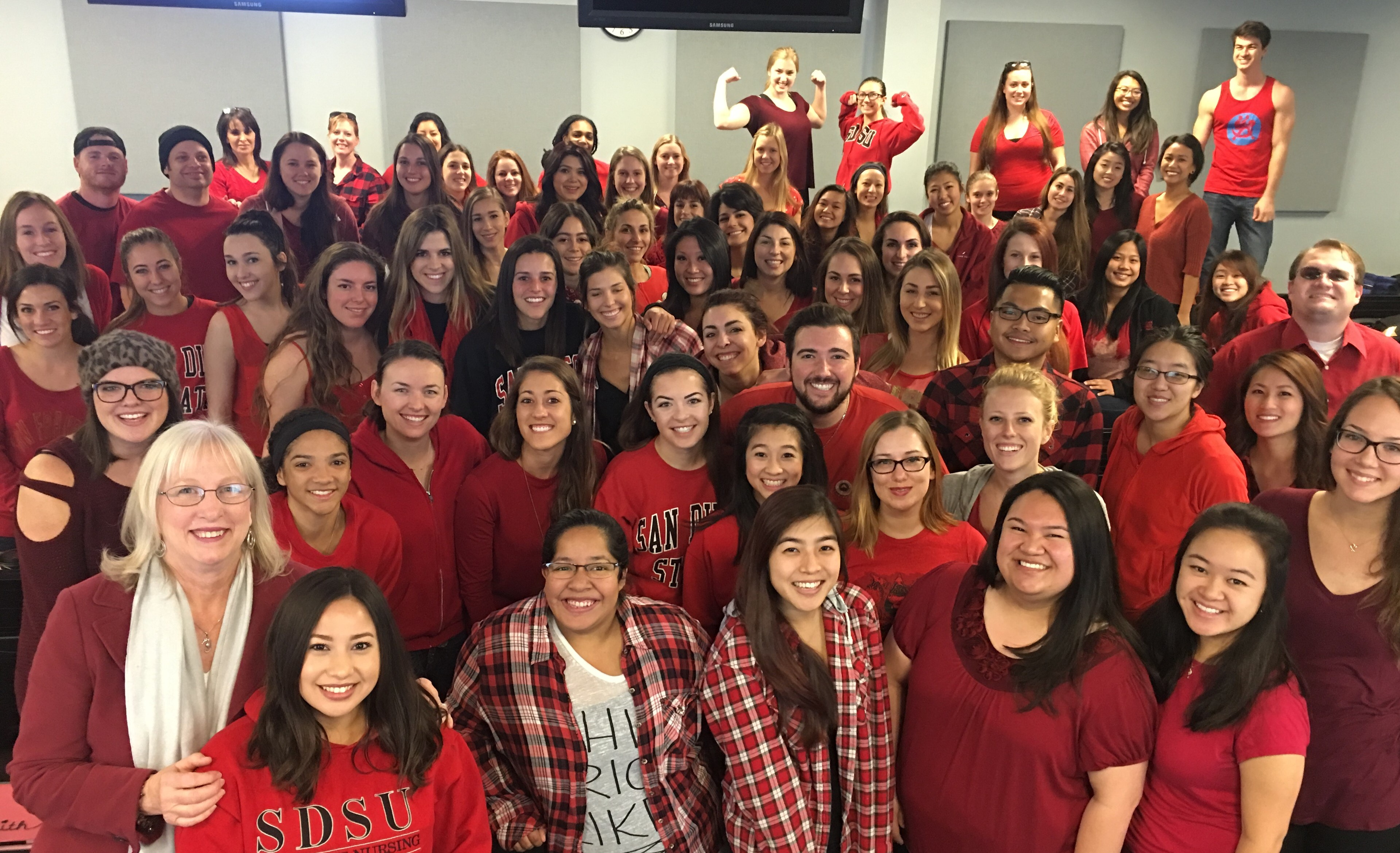 N400 Students Wear Red for National Wear Red Day, 2016!